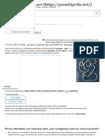 TOXOCARA CANIS, Gusano Intestinal de Los PERROS_ Biología, Prevención y Control