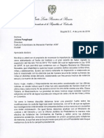Carta a Juliana Punguilupi - Directora del Instituto de Bienestar familiar (ICBF)