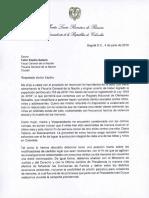 Carta a Fabio Espitia Garzón - Fiscal Genaral de la Nación