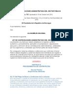 EXPOSICION LEGISLACION .LEY DE CONTRATACIONES ADMINISTRATIVAS DEL SECTOR PÚBLICO