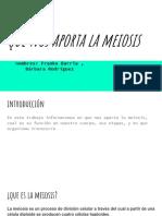 aportes de la meiosis