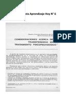 6 Revista Aprendizaje Hoy N°6 TRASFERENCIA EN EL TRATAMIENTO PSICOPEDAGOGICO.pdf