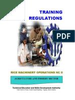 TR - Rice Machinery Operations NC II