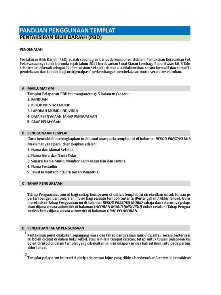Templat Pelaporan Pbd Kssm Tingkatan 2 Bahasa Inggeris