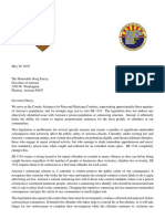Ltr to Governor Ducey Re 1334 Veto 5-29-19
