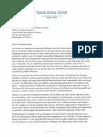 Sen. Brown letter to DOJ