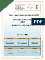 Programme Licence Travaux Publics