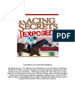 Racing Secrets Exposed-backing Version