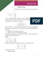 Gauss Ejercicios