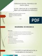 Tematica 1 y 2 Ingenieria Economica