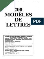 200 Modeles de Lettres-1