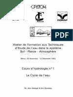 Cour Hydrologie Cycle de l'Eau