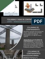 Exposición de Columnas y Vigas de Confinamiento