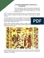Literatura de Autores Prehispánicos y Mayas de La Actualidad