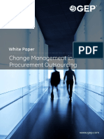 Change Management Procurement Outsourcing
