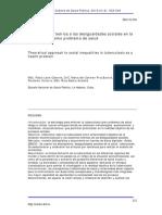 2.- Aproximación Teórica a Las Desigualdades Sociales en La TUBERCULOSIS