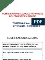 Complicaciones Agudas y Cronicas Del Paciente en Díalisis