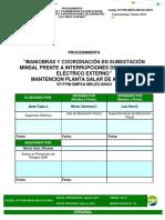 VP.pym-SMPSA-MELEC-00024 REV-02 Maniobras y Coordinacion en Subestación Minsal Frente a Interrupciones de Suministro Electrico Externno