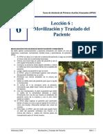 Movilizacion y Traslado de Pacientes APAA