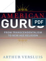 American Gurus From Transcendentalism to New Age Religion by Arthur Versluis 2014