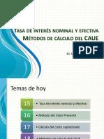Clase 8 Intereses III Nominal y Efectiva