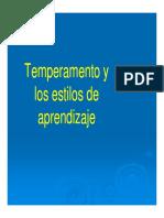 (Diapositivas) Temperamento y Estilos de Aprendizaje.