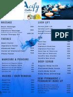 Spacify Wellness Center Latest Price List