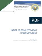 Indice Competitividad Global en Los Ultimos Años