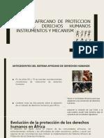El Sistema Africano de Derechos Humanos y de Los Pueblos Se Basa en La Carta Africana de Derechos Humanos y de Los Pueblos