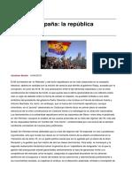 Reino de Espana La Republica Preterida