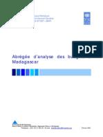 Abrégée d'analyse des budgets à Madagascar (Février 2005)