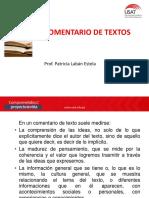 Comentario de Textos 2019