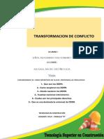 Trabajo de Transformacion de Conflicto