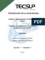 Tecnología de La Soldadura Informe Fcaw