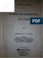 SOLUTION MANUAL (Differential Equation)