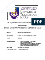 STA404 Stress Among Private Sector Workers in Sabah