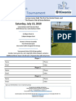 McFadden Memorial Golf Tournament Flyer - 2019