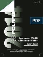 2014 Polaris Sportsman 570 Owners Manual