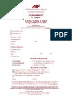 modulo iscrizione ForFilmFest 2010