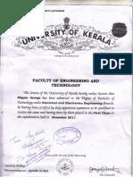 Degree Certificate BTech