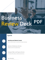 Business Review Deck | Business Review PPT Slide Designs Deck | SlideUpLift