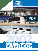 ACI Catalogue 2002