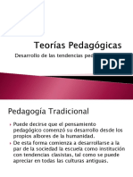 teorías pedagogicas