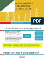 Tugas Manajemen Infrastruktur Transmisi Listrik