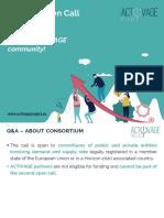Activage_2nd Oc_1st Q&A Webinar