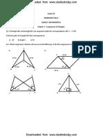 Maths Worksheet