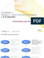 Drive Test KPI and Analysis