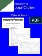 Basic Legal Citation