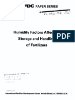 Critical Relative Humidity of Fertilizers