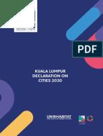 Kuala Lumpur Declaration on Cities 2030 (WUF)